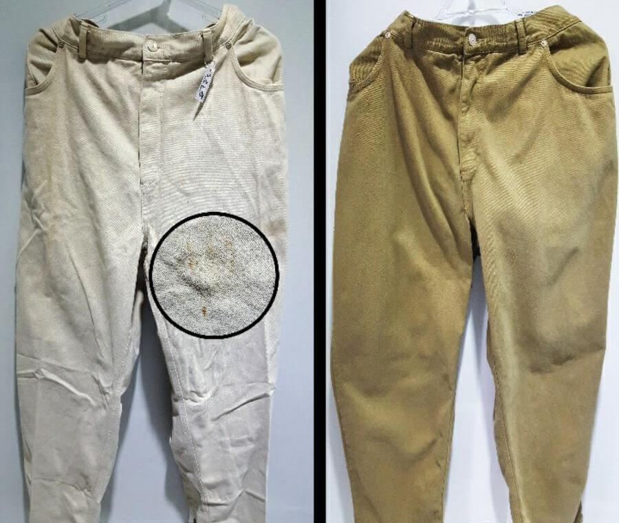 Tingimento calças