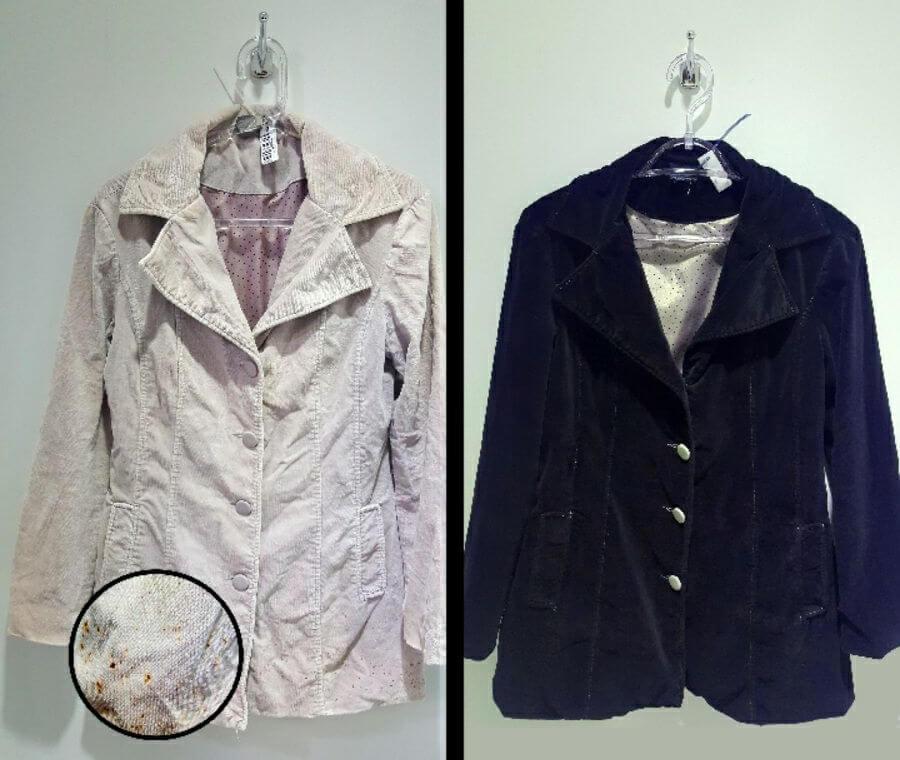 Tingimento casacos